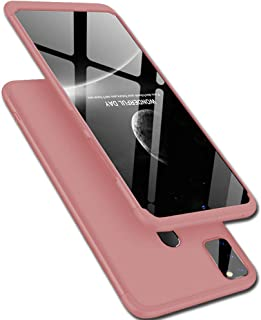 TheGiftKart Full Body 3 in 1 Slim Fit 360 Degree Protection Hard Bumper Back Case Cover for Samsung Galaxy M30s (Rose Gold)