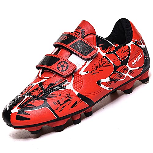 Rokiemen Fussballschuhe Kinder FG/AG Professionelle Athletics Trainingsschuhe Jungen Outdoor Sport Football Schuhe Rot EU35
