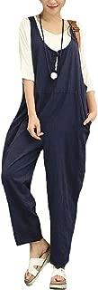 XINHEO Women's Loose Comfy Chic Overalls Work to Weekend Jumpsuit Pants