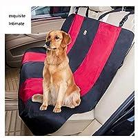 ペットのカーシートカバー保護装置自動車、トラックおよびSUVに適した防水、耐摩耗性および滑り止めのペットカーシートカバー (Color : Red)