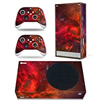 DOMILINA XboxシリーズSスキンステッカー フルボディビニールデカールカバー Microsoft XboxシリーズSコンソール&コントローラー用 - レッドクラウド