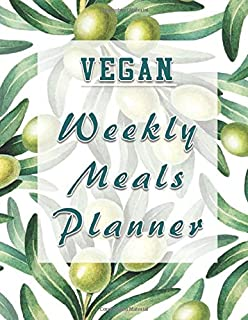 Vegan Weekly Meals Planner: Menu Planning Calendar and Grocery List for the whole year | 8.5 in x 11 in