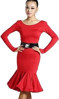 Women Latin Dance Dress Latin Training Dress Ballroom Costume Adult Dance Practice Performance Skirt