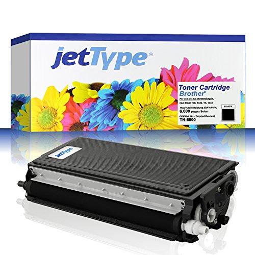 TN-6600 Toner kompatibel f. Brother FAX-8360P / HL-1430 / MFC-9880 / HL-1450 / HL-1230 / HL-1250 / HL-1030 / HL-1240 / HL-1440 / MFC-9850 / MFC-9660, schwarz, 6.000 Seiten