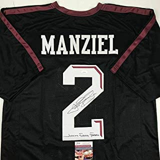 Autographed Signed Memorabilia Johnny Fn Football Manziel Texas A&M Black Jersey - JSA Authentic