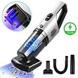 PHYSEN Handheld Vacuum Cordless Car Vacuum Cleaner 6KPa 120W Cyclonic Suction with Upgraded Motorized Rolling Brush and Inner Warehouse Dry Wet Vacuum Hand Vacuum for Home Pet Hair Car Cleaning