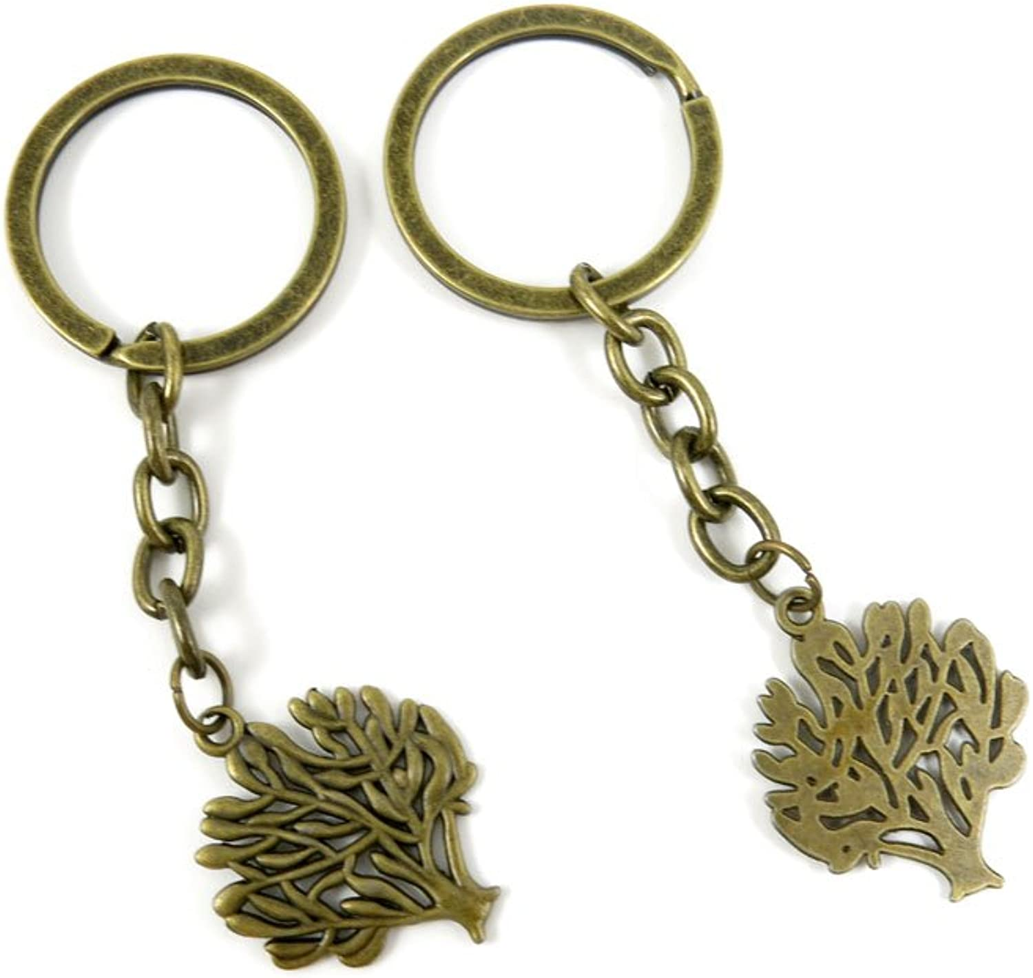210 Pieces Fashion Jewelry Keyring Keychain Door Car Key Tag Ring Chain Supplier Supply Wholesale Bulk Lots Q3FR3 Life String Tree Oak