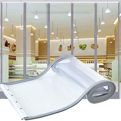MAHFEI Cortina De Puerta, Transparente Mosquitera Magnética para Puertas Silenciar Mantener Caliente Insonorizar Cortina De Tira De Vinilo Plástico PVC De 1,6 Mm para Centro Comercial