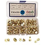 YMAISS 90 Sets Chicago Screws 3 Size 1/4,3/8,1/2in Brass Plated Screw Posts Bookbinding Po...