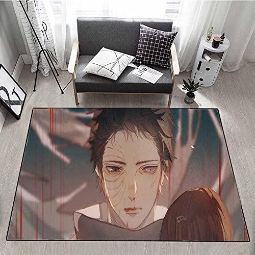Alfombra de Dibujos Animados Anime Dormitorio Alfombra de cabecera Sala de Estar sofá Rectangular Mesa de café decoración de la habitación-1_50x80cm