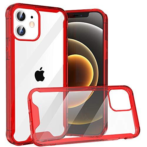 Krichit Shockproof Case for iPhone 12 Mini Clear Case Hard PC Back Anti-Scratch, Soft TPU Bumper, Protective Cover for iPhone 12 Mini (Purple)