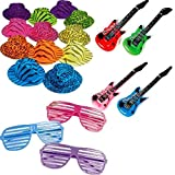 Rock Star Party Favor Pack Includes Hats, Glasses, and Inflatable...