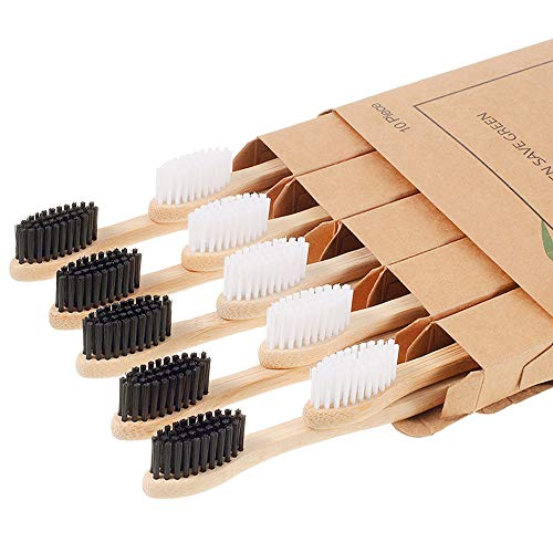 10-Piece Biodegradable Bamboo Toothbrushes Only $4.94 (Retail $12.99)