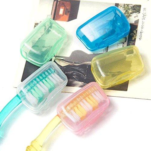 Jaune : 10 pcs/lot Portable Tête de brosse à dents pour voyage randonnée Camping Brosse capuchon Coque Accessoires de salle de bain Fournitures 8zca133–3