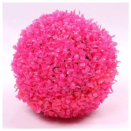 JAOUE Künstliche Buchskugel, Kunststoffgitter, Ø 35Cm - Künstliche Mailänder Graskugel Grassball 8 Farben,E
