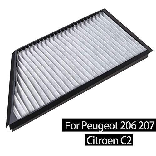 Innenraumfilter Pollenfilter inkl. Aktivkohle Clean Fresh, Luftfilter für Peu-geot 206 207 Ci-troen C2 2006-2019