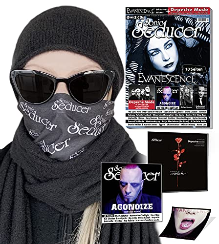 Sonic Seducer 05-2021 inkl. Stilvolle Mund-Nasen-Abdeckung: + Sonic Seducer 05-21 + 2 CDs: Depeche Mode mit exkl. 'Violator'-Cover CD + Evanescence ... The Cure, Kirlian Camera, Agonoize, Rammstein