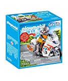 PLAYMOBIL - City Life - Moto de Emergencias Conjunto de Figuras, Multicolor (70051)