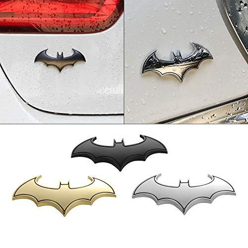JinYe 1PC 3D Metal Bat Auto Logo Car Sticker Metal Batman Badge Emblem Tail Decal Motorcycle Styling Tools Accessories car Styling (Sliver)