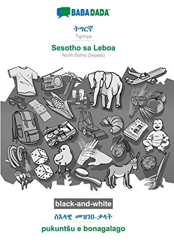 BABADADA black-and-white, Tigrinya (in ge'ez script) - Sesotho sa Leboa, visual dictionary (in ge'ez script) - pukuntSu e bonagalago: Tigrinya (in ge'ez script) - NorthSotho(Sepedi), visual dictionary