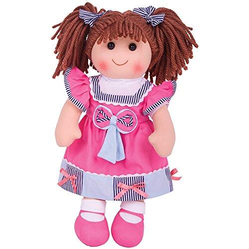 Bigjigs Toys Poupée 28cm Emma | Jouet Enfant | Jeu Traditionnel Enfant | Nounours | Jouet Enfant | Cadeau Enfant | Jouet pour Fille