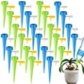 GCOA 24 Packs Self Watering Spikes,Plant Waterer,Self Watering Devices with Slow Release Control?Automatic Vacation Drip Irrigation Watering Devices Plant Waterer for Outdoor Indoor Plants