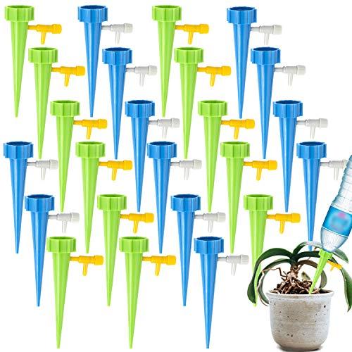 GCOA 24 Stück Automatisch Bewässerung Set,Pflanzen Bewässerungssystem Instellbar Einfaches mit Steuerventilschalter,Pflege Ihrer Indoor & Outdoor Home Office Pflanzen