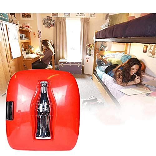 2-in-1 mini-koelkast Cocá-Colá 9L autokoelkast, kleine, stille mini-koelkast, kleine vriezer in de slaapkamer, AC + DC-compatibiliteit ZQG