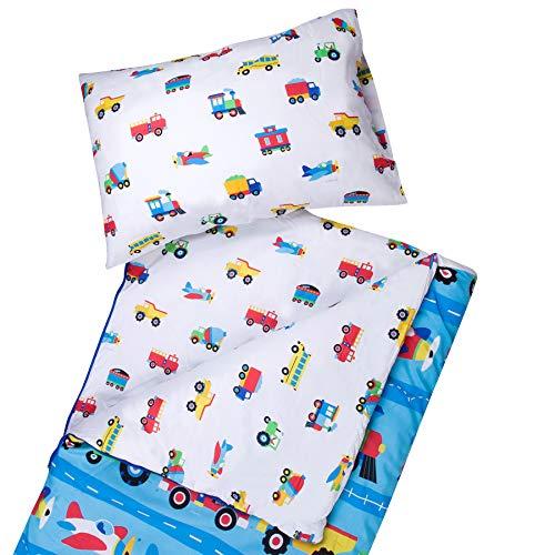Wildkin - Saco de dormir de microfibra para niños y niñas, incluye funda de almohada y bolsa de cosas, tamaño perfecto para fiestas de pijamas, acampadas y viajes nocturnos,...