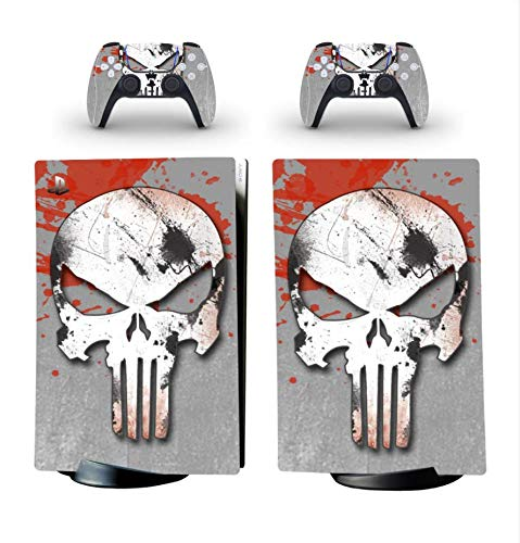 Pegatina Para Playstation 5 Edición Digital y 2 Controladores - Edición Punisher