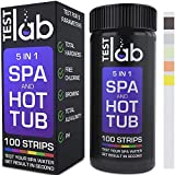 Crystal Water Filters Spa and Hot Tub Test Strips 5 Way Chemical Testing Strip Kit for Chlorine & Bromine Alkalinity Hot Tubs & Spas - Hardness Test TC/TB, FC, TA, TH, pH - 100 ct