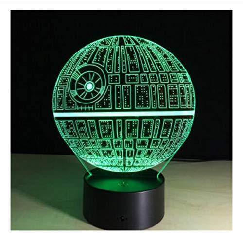 Cool Star Wars R2D2 Robot Novelty 3D Night Light LED Bedside Lamp Table Desk Lampe Lamparas USB Nightlight Luminarias for Kids 7 Colors Change