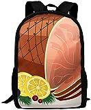 Schinkenfleisch Zitrone Erwachsener Reiserucksack Schulbuchtasche Lässig Tagesrucksack Oxford Outdoor Laptoptasche Computer Umhängetaschen