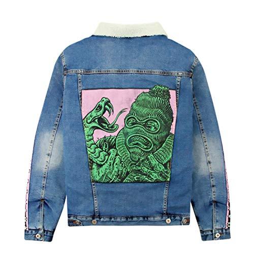 DOOMSDAY SOCIETY Necklace Jacket Cappotto Jeans Imbottito Stone Washed (S)