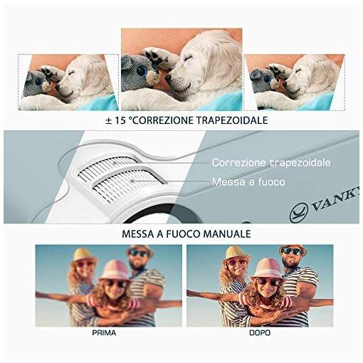 VANKYO Proyector 5000 lúmenes con Pantalla de 236 Pulgadas, soporta 1080P, HiFi Speaker, con Bolsa portátil, para TV… 3