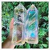 WERWER 2pc Hermosa Hermosa Torre de Cristal Torre de fundición Halo Halo Crystal Tower Decoración del hogar Artesanía