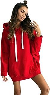 d5acc4c651 OVERDOSE Oversize Robe Sweat Femme Capuche, Sweatshirt Manches Longues Mini  Dress