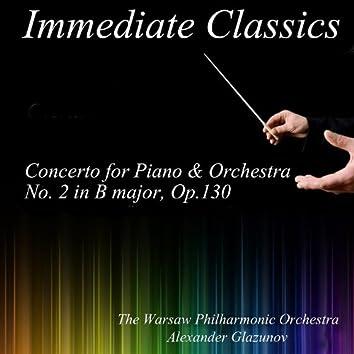 Glazunov: Concerto for Piano and Orchestra in B Major No. 2, Op. 130