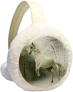 Constellation Gemini Zodiac Sign Winter Earmuffs Ear Warmers Faux Fur Foldable Plush Outdoor Gift