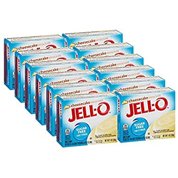 Jell-O Sugar-Free Cheesecake Instant Pudding Mix 1 Ounce Box  Pack of 12