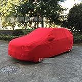 DNSJB Copriauto auto copertura auto antipolvere antigelo antigelo copriauto auto coperta copertura auto alta elasticità rossa (Color : Red)