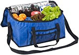 PEARL Kühltasche groß: Faltbare Kühltasche mit Schultergurt & Tragegriffen, 24 Liter, blau (Isoliertasche groß)