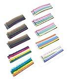 Bobby Pins 100 Pcs Forcine Pinze Colorful Arcobaleno Colorato Perni di Capelli Tessuto Slide Slide Straight Clip di Capelli Metallo Verniciato Durevole Barrette dei Capelli
