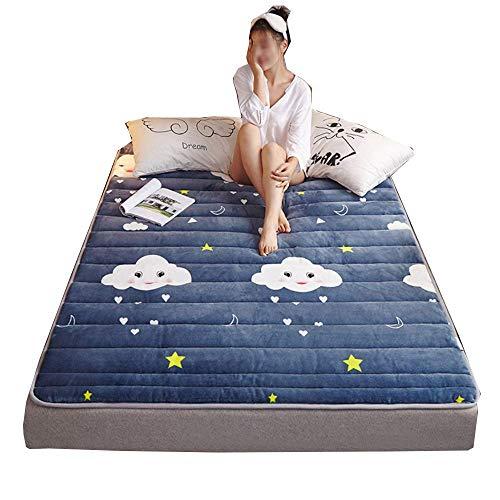 Matratzenschoner, Ultra Soft Matratzenauflage aus Flanell - für Kinderbett - Matratzenschutz Matratzenbezug Betteinlage - 4 Elastische Eckbänder, Waschmaschinenfest (A,90x200cm)