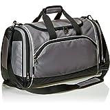 Amazonベーシック ボストンバッグ スポーツバッグ ジムバッグ ダッフルバッグ Mサイズ グレー