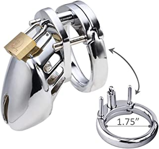 My secret life Silver Briefs 45MM Ring Male Device Belt Cage Underwear Chastit++y Clothing Metal cb6000s