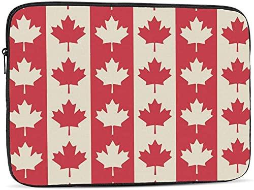 BONRI Funda para computadora portátil con símbolos de la bandera canadiense compatible con la funda clásica para computadora portátil de 10-17 pulgadas, 17 pulgadas