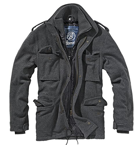 Brandit M65 Voyager Wool, Chaqueta para Hombre, Gris (Anthrazit 5), Small