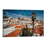 wenzhen Alfama Lissabon Kunst-Poster, dekoratives Gemälde,