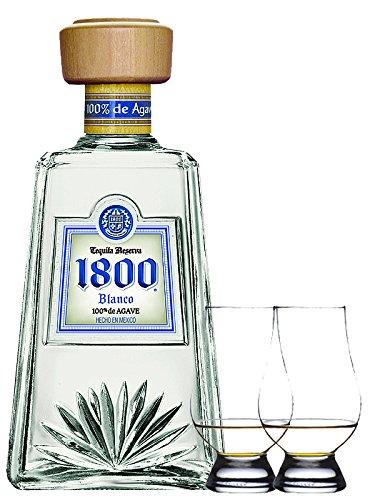 1800 Jose Cuervo Tequila Blanco 0,7 Liter + 2 Glencairn Gläser